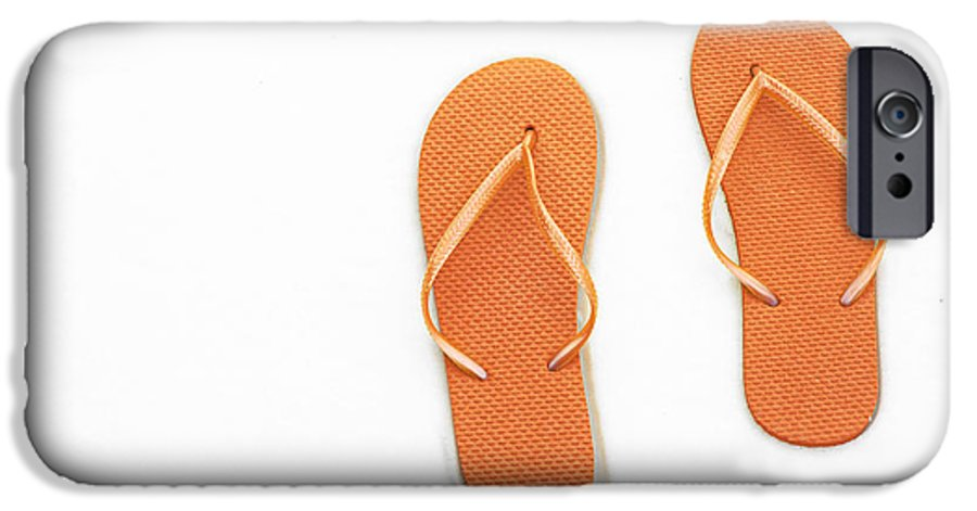 Andee Design Flip Flops IPhone 6s Case featuring the photograph Where On Earth Is Spring - My Orange Flip Flops Are Waiting by Andee Design
