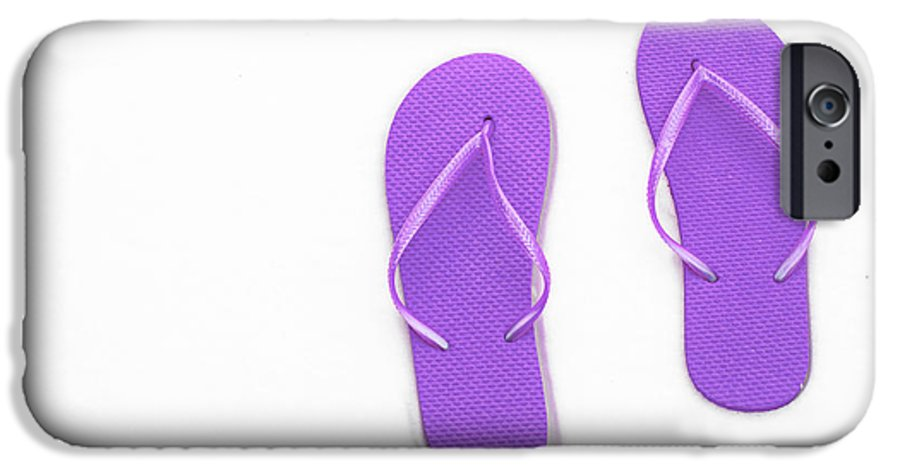 Andee Design Flip Flops IPhone 6s Case featuring the photograph Where On Earth Is Spring - My Purple Flip Flops Are Waiting by Andee Design