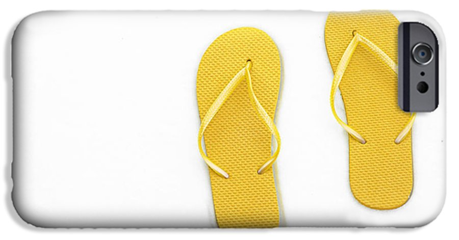 Andee Design Flip Flops IPhone 6s Case featuring the photograph Where On Earth Is Spring - My Yellow Flip Flops Are Waiting by Andee Design