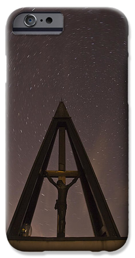 Startrails IPhone 6s Case featuring the photograph Against The Stars by Ian Middleton