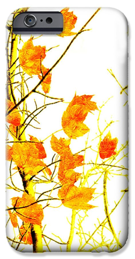 Abstract IPhone 6s Case featuring the photograph Autumn Leaves Abstract by Andee Design