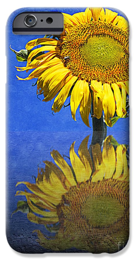 Sunflower IPhone 6s Case featuring the photograph Sunflower Reflection by Andee Design