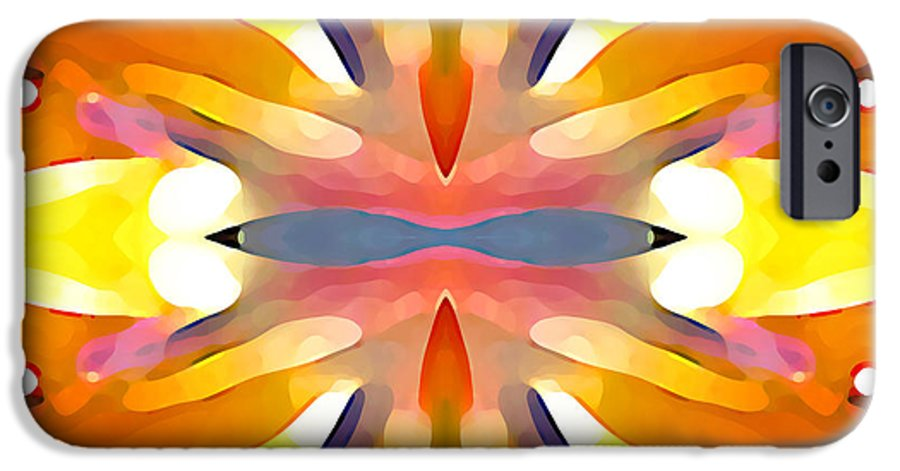 Abstract Art IPhone 6s Case featuring the painting Abstract Paradise by Amy Vangsgard