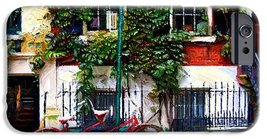 Greenwich Village IPhone 6s Case featuring the digital art Bicycle Parking Sketch by Randy Aveille