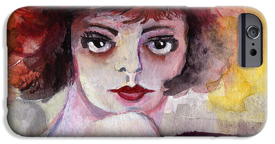 Clara Bow IPhone 6s Case featuring the painting Clara Bow Vintage Movie Stars The It Girl Flappers by Ginette Callaway