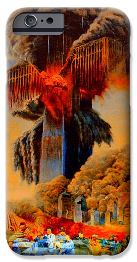 Henryk IPhone 6s Case featuring the painting Cross Of The Third Millennium by Henryk Gorecki