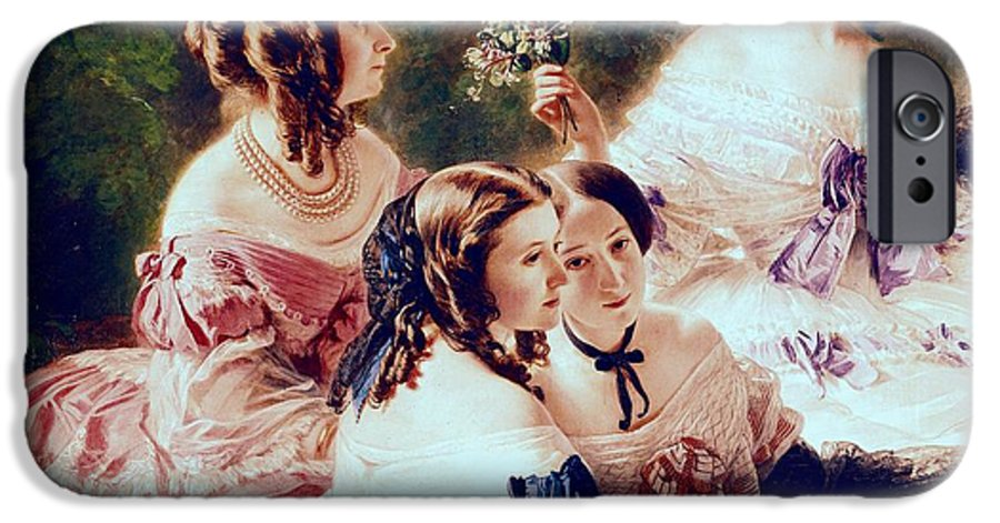 Empress IPhone 6s Case featuring the painting Empress Eugenie And Her Ladies In Waiting by Franz Xaver Winterhalter