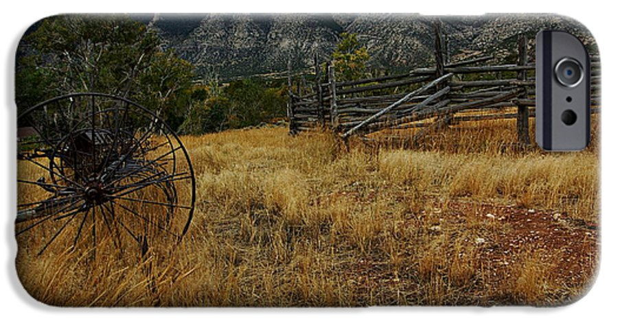Bighorn Canyon National Recreation Area IPhone 6s Case featuring the photograph Ewing-snell Ranch 2 by Larry Ricker