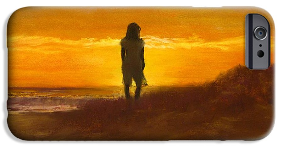 Beach IPhone 6s Case featuring the painting Girl On The Dunes by Jack Skinner