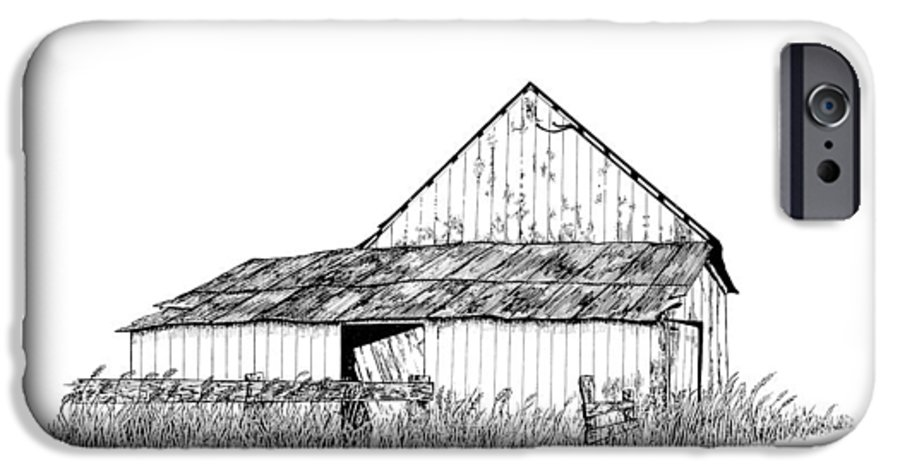 Pen And Ink IPhone 6s Case featuring the painting Haines Barn by Virginia McLaren