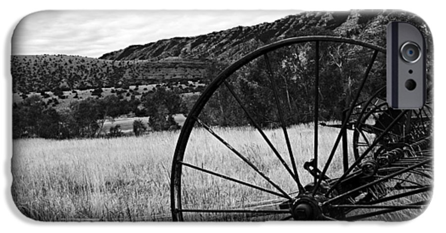 Bighorn Canyon National Recreation Area IPhone 6s Case featuring the photograph Hay Rake At The Ewing-snell Ranch by Larry Ricker