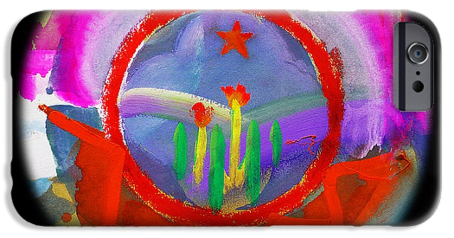 Black Hills IPhone 6s Case featuring the painting Native American Spring by Charles Stuart