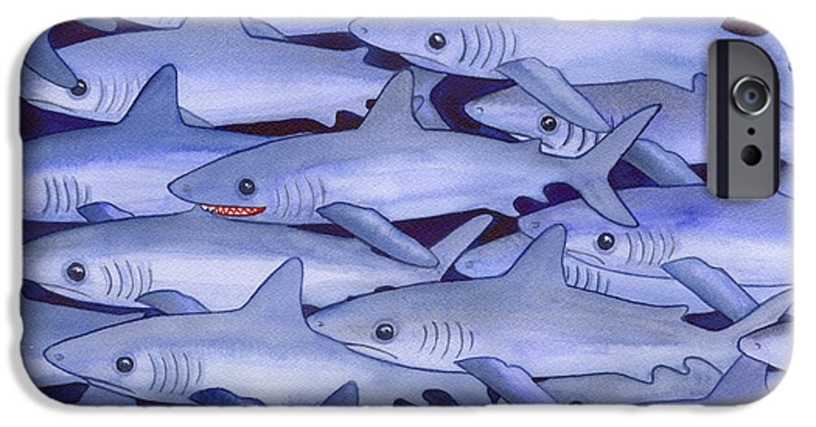 Shark IPhone 6s Case featuring the painting Sharks by Catherine G McElroy