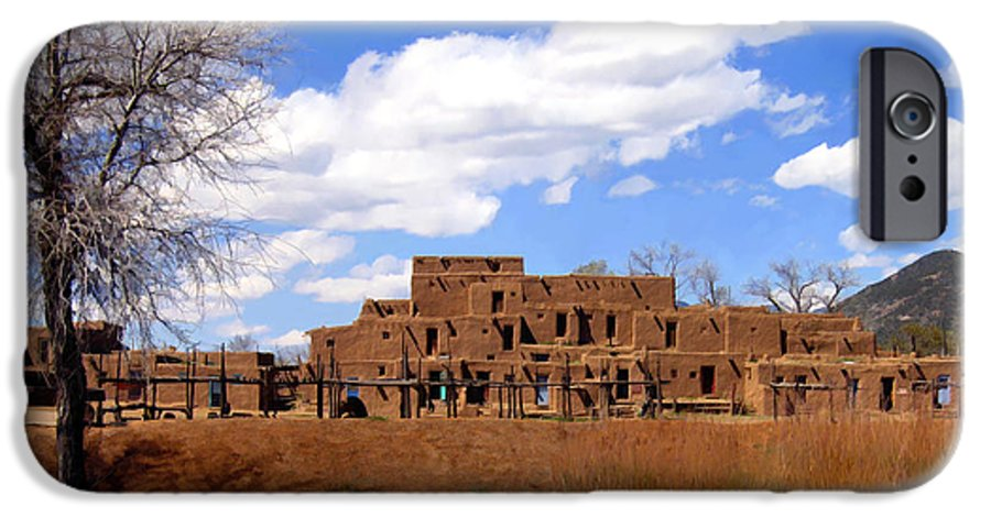 Taos IPhone 6s Case featuring the photograph Taos Pueblo Early Spring by Kurt Van Wagner