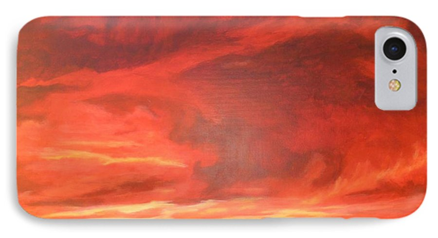 Western IPhone 7 Case featuring the painting One Last Look by Janis Mock-Jones