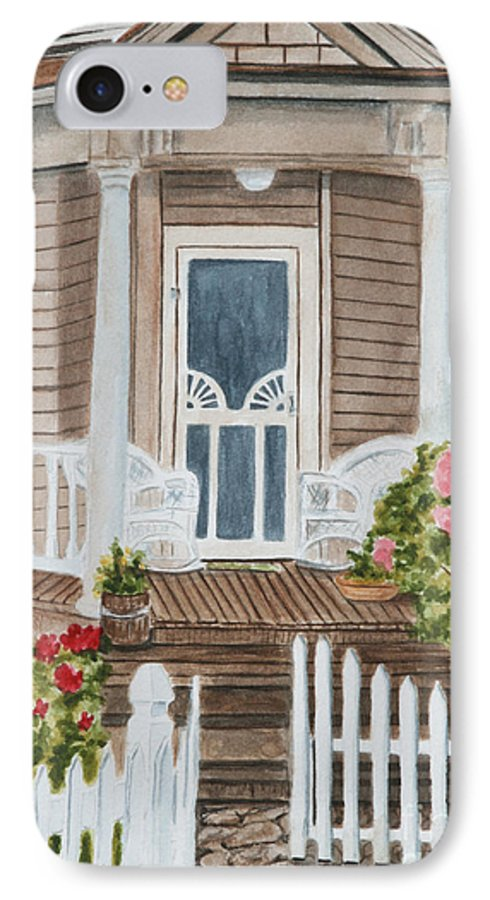 Architecture IPhone 7 Case featuring the painting Welcome by Regan J Smith