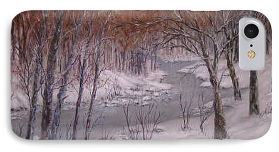Snow; Landscape IPhone 7 Case featuring the painting Peace And Quiet by Ben Kiger