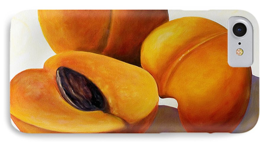 Apricots IPhone 7 Case featuring the painting Apricots by Shannon Grissom