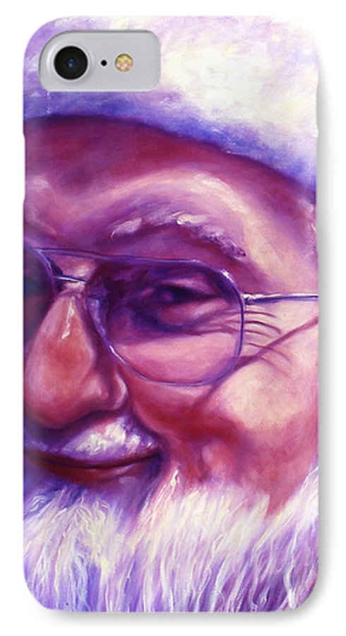 Portrait IPhone 7 Case featuring the painting Are You Sure You Have Been Nice by Shannon Grissom