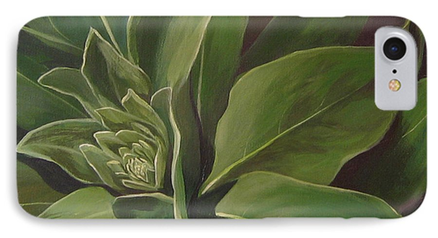 Closeup Of Mullein Plant IPhone 7 Case featuring the painting Beautiful Stranger by Hunter Jay