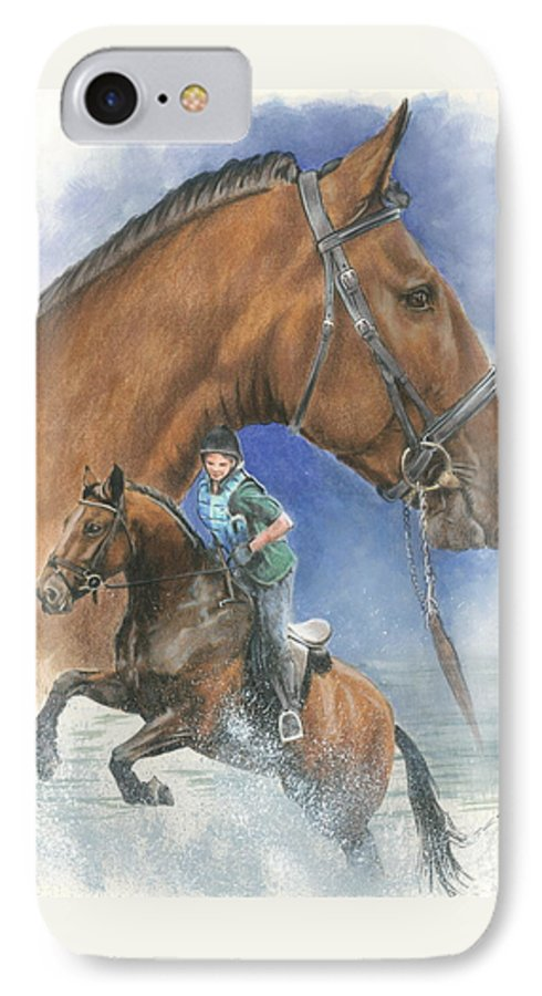 Equus IPhone 7 Case featuring the painting Cleveland Bay by Barbara Keith