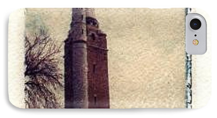 Polaroid Transfer IPhone 7 Case featuring the photograph Compton Water Tower by Jane Linders