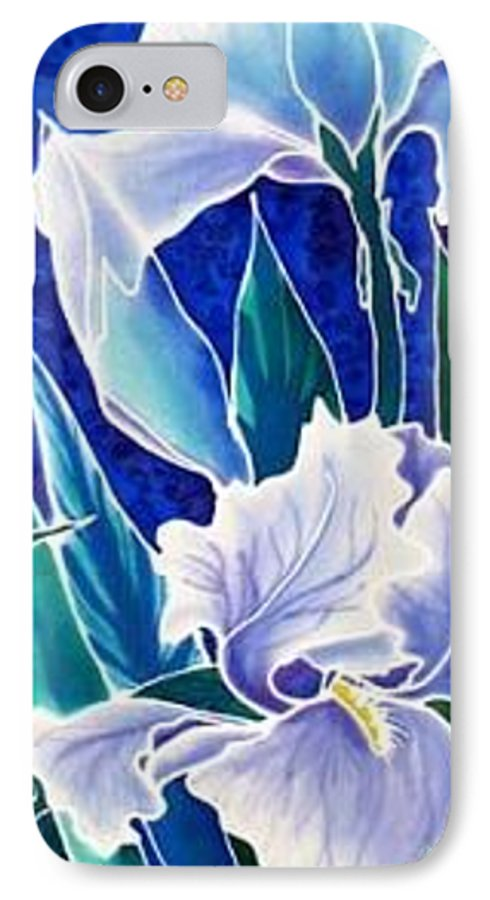 Iris IPhone 7 Case featuring the painting Iris by Francine Dufour Jones