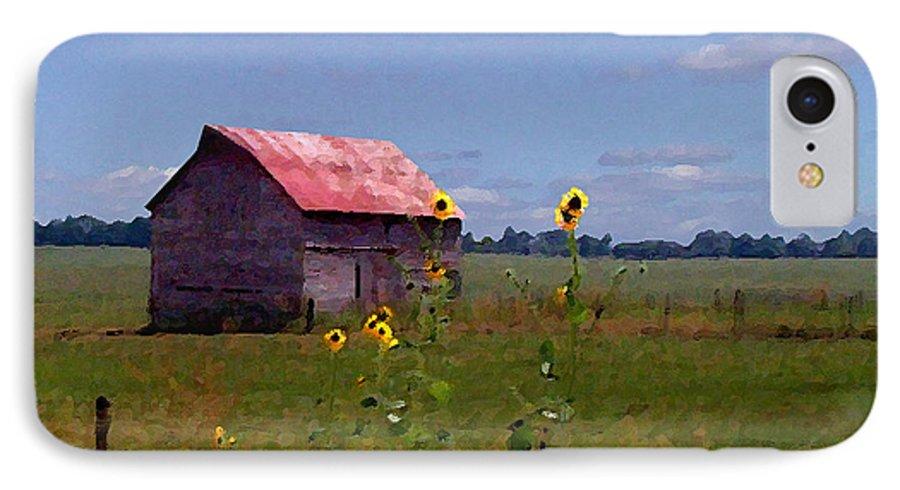 Lanscape IPhone 7 Case featuring the photograph Kansas Landscape by Steve Karol
