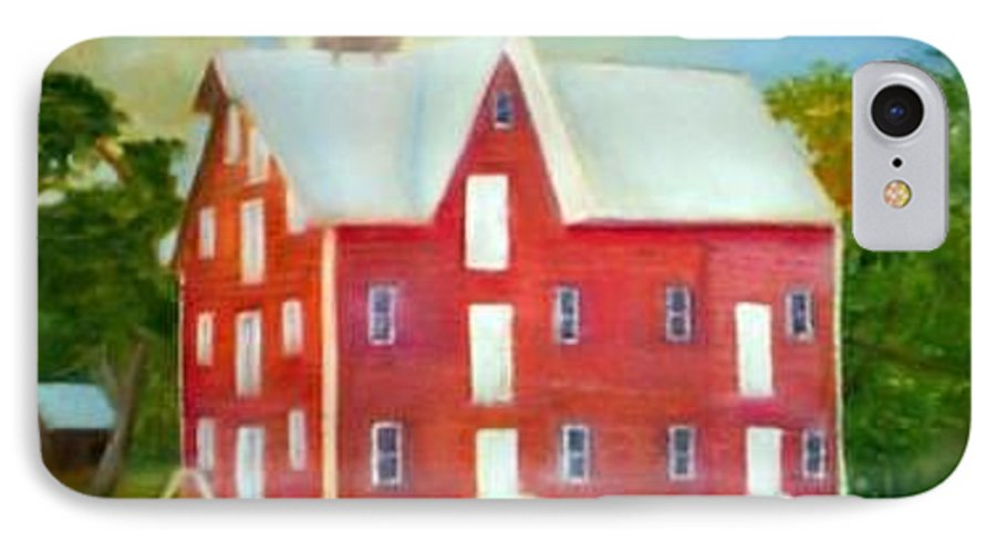 Kirby Mill IPhone 7 Case featuring the painting Kirby's Mil by Sheila Mashaw