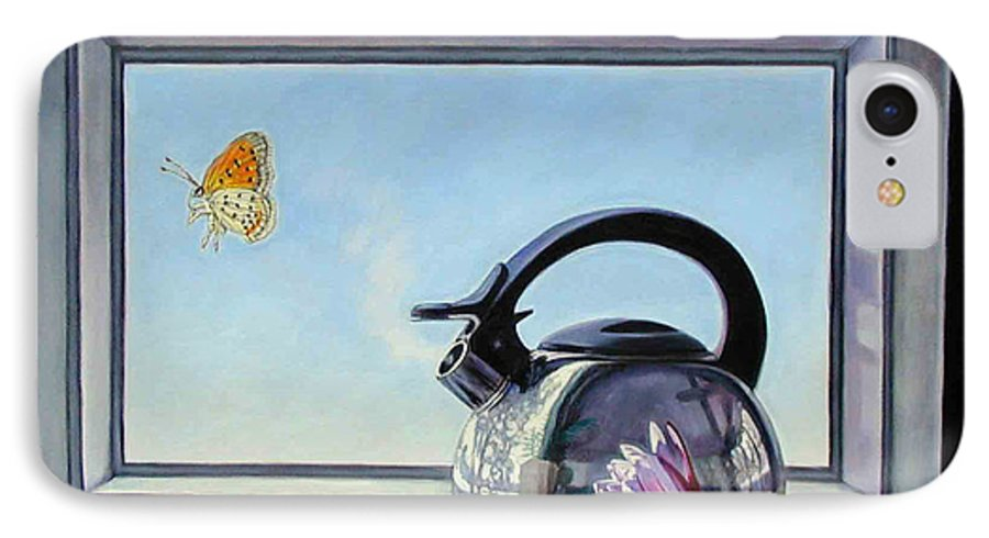 Steam Coming Out Of A Kettle IPhone 7 Case featuring the painting Life Is A Vapor by John Lautermilch