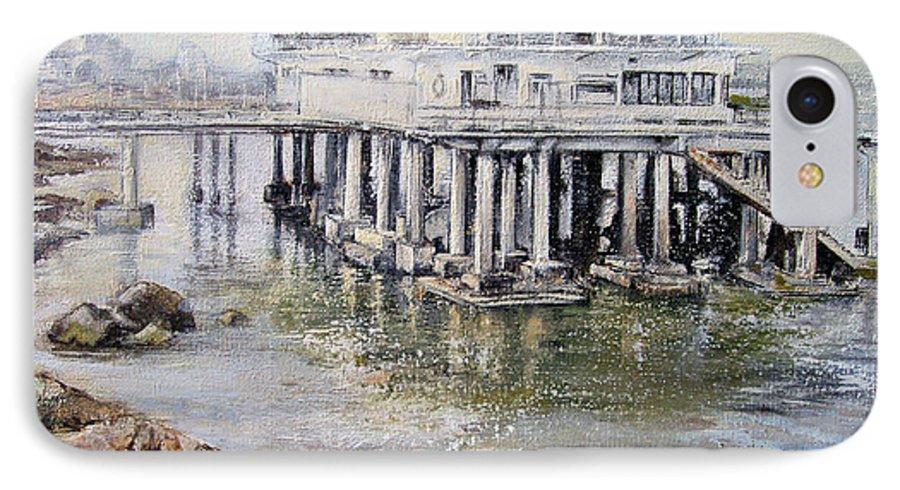 Maritim IPhone 7 Case featuring the painting Maritim Club Castro Urdiales by Tomas Castano