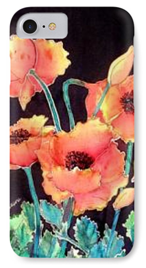 Poppies IPhone 7 Case featuring the painting Orange Poppies by Francine Dufour Jones