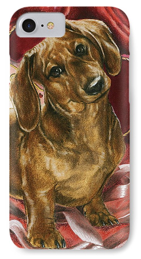 Dogs IPhone 7 Case featuring the painting Please Be Mine by Barbara Keith