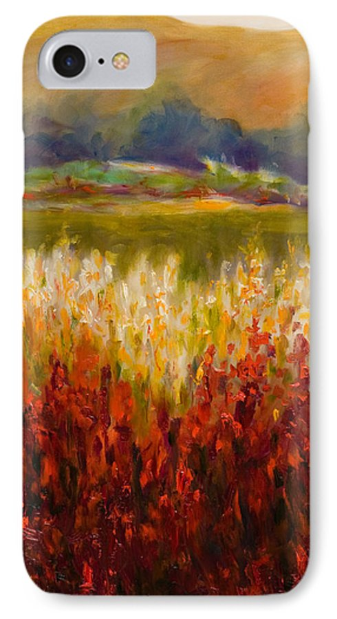Landscape IPhone 7 Case featuring the painting Santa Rosa Valley by Shannon Grissom