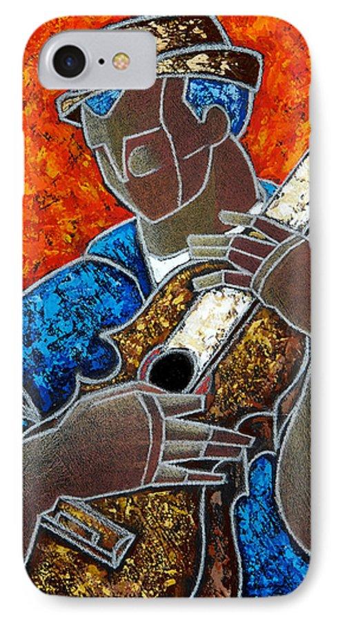 Puerto Rico IPhone 7 Case featuring the painting Solo De Cuatro by Oscar Ortiz