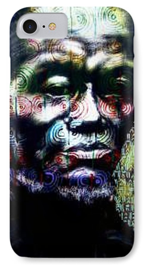 Portrait IPhone 7 Case featuring the mixed media Tattoo by Chester Elmore