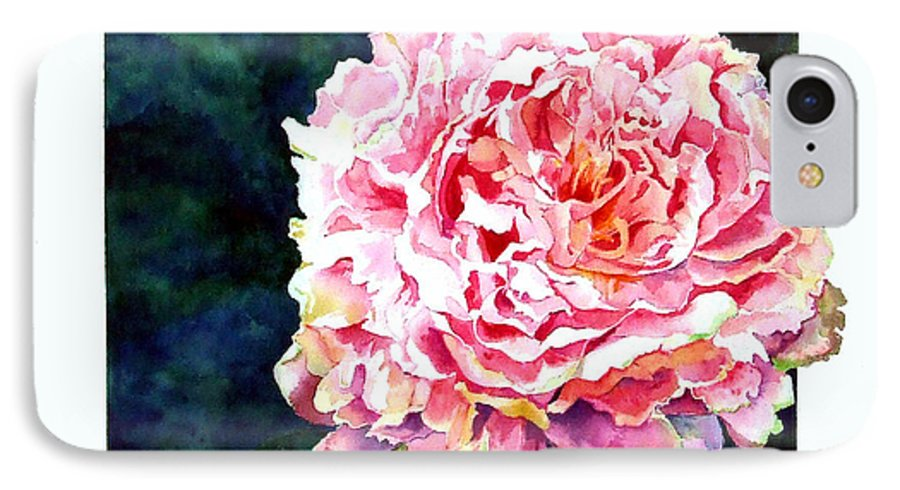 Peony IPhone 7 Case featuring the painting The Ant's Castle by Linda Marie Carroll
