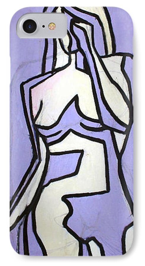 Nudes IPhone 7 Case featuring the painting Three by Thomas Valentine