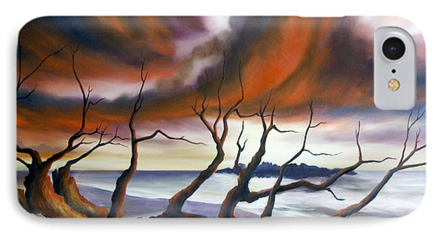 Marsh IPhone 7 Case featuring the painting Tideland by James Christopher Hill