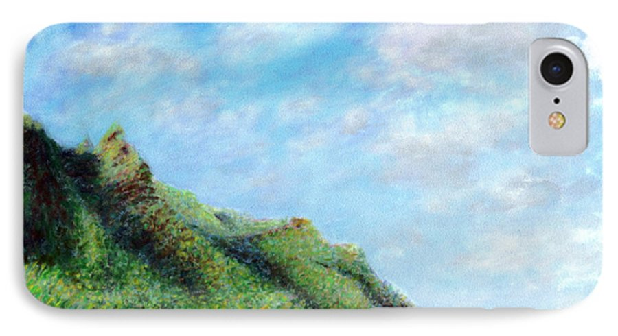 Coastal Decor IPhone 7 Case featuring the painting Tondo by Kenneth Grzesik