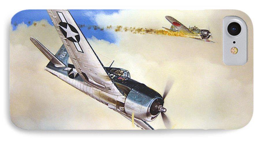 Military IPhone 7 Case featuring the painting Victory For Vraciu by Marc Stewart