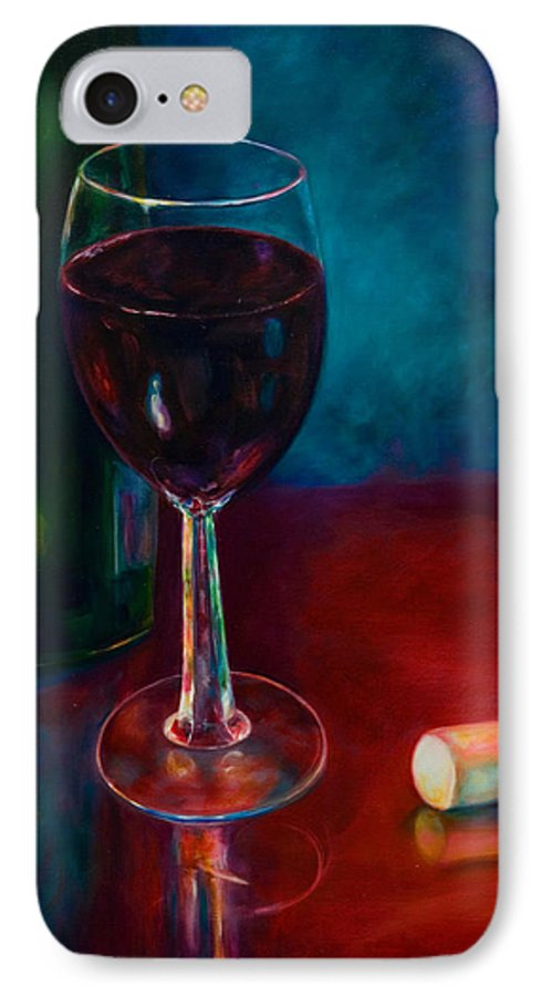 Wine Bottle IPhone 7 Case featuring the painting Zinfandel by Shannon Grissom