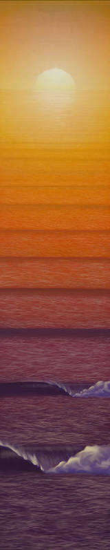 Sunset Poster featuring the mixed media Sunset by Tim Foley