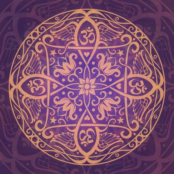 Mandala Poster featuring the digital art Aum Awakening Mandala by Cristina McAllister