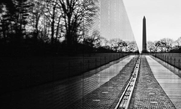 Vietnam Wall Poster featuring the photograph 58286 by JC Findley
