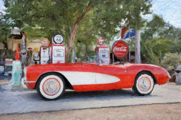 1957 Poster featuring the photograph 1957 Chevy Corvette by Robert Jensen
