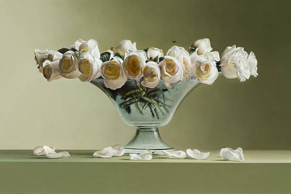Photorealistic Poster featuring the painting 39 Roses by Mark Van crombrugge