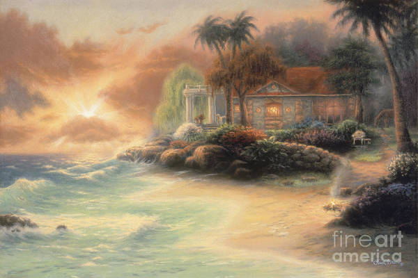 Tropical Poster featuring the painting Friday Evening Summer by Chuck Pinson