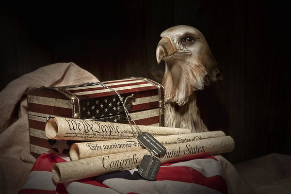 Eagle Poster featuring the photograph Patriotism by Tom Mc Nemar