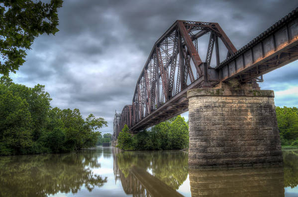 Bridge Poster featuring the photograph Railroad Bridge by James Barber